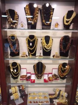 Russian souvenirs . Russian Amber
