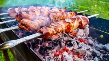 Shashliki. Russian barbecue