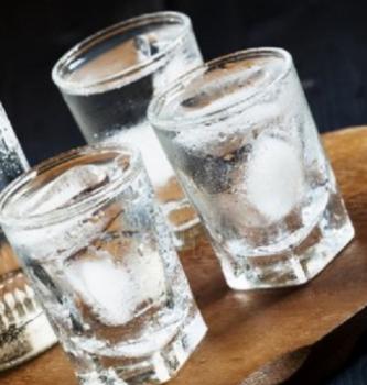 Russian vodka shot