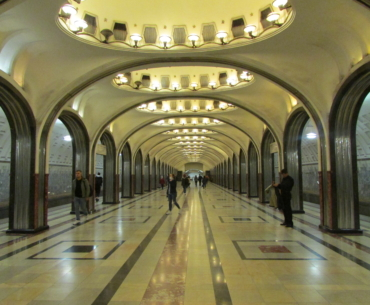 Moscow metro Mayakovskaya station 1938