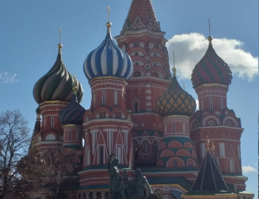St.Basils cathedral on Red Square Moscow