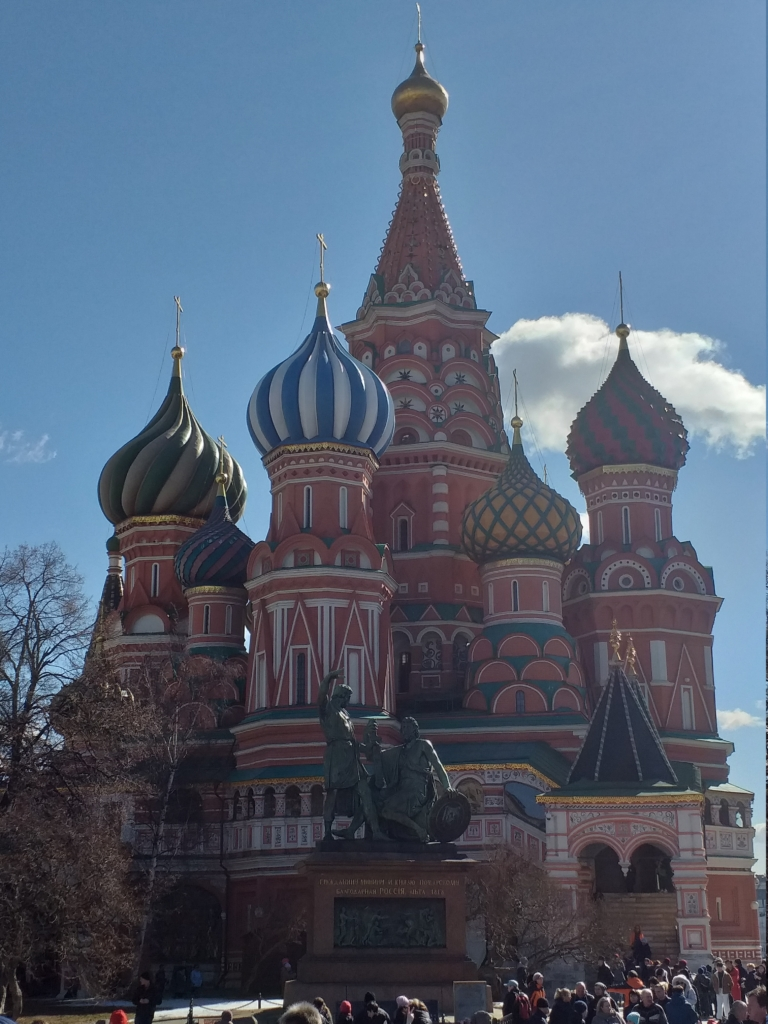 St.Basil's cathedral on Red Square .