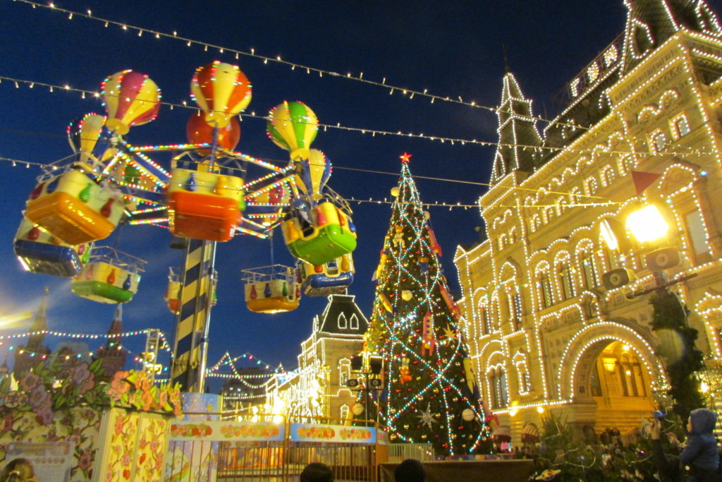 Red Square 2019-2020.  New year and Christmas celebrations